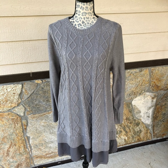 Charlie Paige Cable Knit Tunic Dress Size Medium